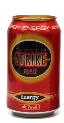 Напиток слабоалкогольный тонизирующий «Tenstrike Energy Red, 0.33 л»