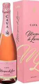Вино игристое розовое брют «Marques de Lares Rosado Brut Cava» в подарочной упаковке