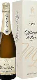 Вино игристое белое брют «Marques de Lares Brut Cava Lopez Morenas » в подарочной упаковке