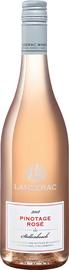 Вино розовое сухое «Pinotage Rose Jonkershoek Valley WO Lanzerac» 2018 г.