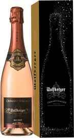 Вино игристое розовое брют «Wolfberger Cremant D'Alsace Rose» в подарочной упаковке