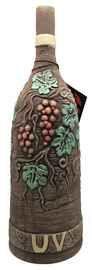 Вино столовое красное полусладкое «Usakhelauris Venakhebi Alazanskaya Dolina» глиняная бутылка (полукруглая)