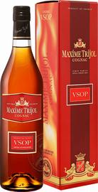 Коньяк французский «Maxime Trijol Cognac VSOP» в подарочной упаковке