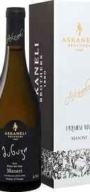Вино белое сухое «Manavi Askaneli Brothers» в подарочной упаковке