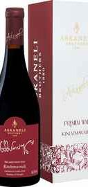 Вино красное полусладкое «Kindzmarauli Askaneli Brothers » в подарочной упаковке