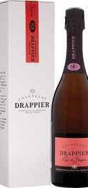 Вино игристое розовое брют «Drappier Rose Brut Champagne» в подарочной упаковке