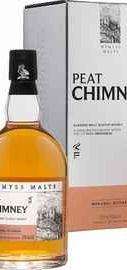 Виски шотландский «Peat Chimney 3 Years Old Blended Malt Scotch Whisky Wemyss Vintage Malts» в подарочной упаковке