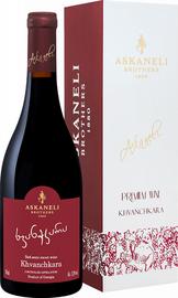 Вино красное полусладкое «Khvanchkara Askaneli Brothers» в подарочной упаковке