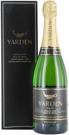 Вино игристое белое брют «Yarden Katzrin Blanc de Blanc Brut» 2007 г., в подарочной упаковке