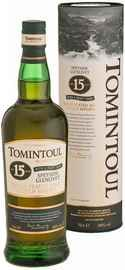 Виски шотландский  «Tomintoul Speyside Glenlivet Peaty Tang Single Malt Scotch Whisky 15 YO» в тубе