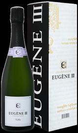 Вино игристое белое брют «Eugene III Tradition Brut Cooperative Vinicole De La Region De Baroville» в подарочной упаковке