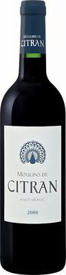 Вино красное сухое «Moulins De Citran Haut Medoc» 2008 г.