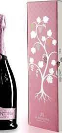 Вино игристое розовое полусухое                           «La Montina Franciacorta Rose Demi Sec» в подарочной упаковке