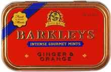Леденцы «Barkleys Mints имбирь и апельсин» 50 гр.