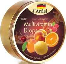 Леденцы «J'Ardel Мультивитамин, с фруктовой начинкой» 150 гр