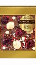 Шоколад молочный с украшением «Фундук и вишня» 35 гр., в блистере