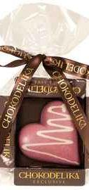 Шоколад белый «Сердце малиновое» 30 гр.