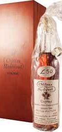 Коньяк французский «Petite Champagne Chateau de Montifaud Heritage Louis Vallet 50 Years Old» в деревянной коробке (c корковой пробкой в наборе)