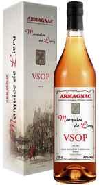 Арманьяк «Marquise De Livry VSOP» в подарочной упаковке