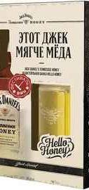 Виски американский «Jack Daniel's Tennessee Honey» в подарочной упаковке со стаканом в форме банки