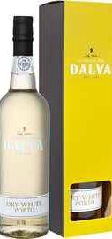 Портвейн «Dalva Dry White Porto C. da Silva» в подарочной упаковке