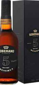 Бренди «Soberano Reserva 5 years old Gonzalez Byass Jerez» в подарочной упаковке