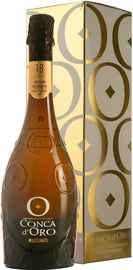 Вино игристое белое сухое «Conca d Oro Conegliano Valdobbiadene Prosecco Superiore Millesimato Extra Dry» 2018 г. в подарочной упаковке
