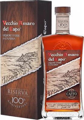 Ликер «Vecchio Amaro del Capo Riserva pack Distilleria Caffo» в подарочной упаковке