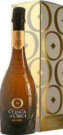 Вино игристое белое брют «Conca d Oro Conegliano Valdobbiadene Prosecco Superiore Brut» 2018 г. в подарочной упаковке