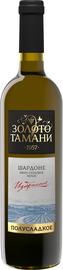 Вино столовое белое полусладкое «Золото Тамани Шардоне»