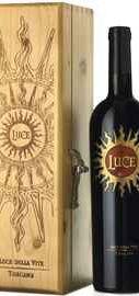 Вино красное сухое «Luce» 2016 г. в деревянной коробке