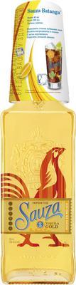 Текила «Sauza Gold» со стаканом