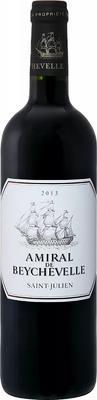 Вино красное сухое «Amiral De Beychevelle Saint Julien » 2013 г.