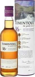 Виски шотландский «Tomintoul Speyside Glenlivet Single Malt Scotch Whisky 16 years» в тубе