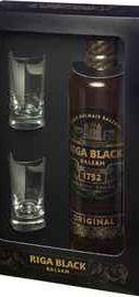 Ликер «Riga Black Balsam» в подарочной упаковке с 2-мя стопками