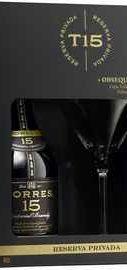 Бренди «Torres 15 Reserva Privada» в подарочной упаковке с бокалом