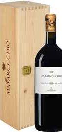 Вино красное сухое «Matarocchio Bolgheri Superiore» 2015 г. в деревянной подарочной упаковке