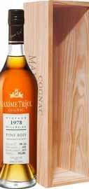 Коньяк французский «Maxime Trijol Cognac Fins Bois 1978» в деревянной подарочной упаковке