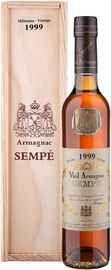 Арманьяк «Sempe Vieil Armagnac» 1999 г. в деревянной подарочной упаковке