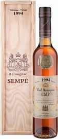 Арманьяк «Sempe Vieil Armagnac» 1994 г. в деревянной подарочной упаковке