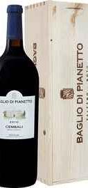 Вино красное сухое «Cembali » 2010 г., в деревянной подарочной упаковке