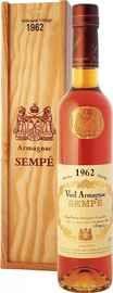 Арманьяк «Sempe Vieil Armagnac» 1962 г. в деревянной подарочной упаковке