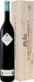 Вино красное сухое «Sarmassa Barolo Marchesi Di Barolo » 2012 г., в деревянной подарочной упаковке