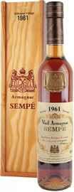 Арманьяк «Sempe Vieil Armagnac» 1961 г. в деревянной подарочной упаковке