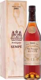 Арманьяк «Sempe Vieil Armagnac» 2001 г. в деревянной подарочной упаковке