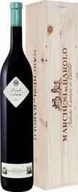 Вино красное сухое «Cannubi Barolo Marchesi Di Barolo» 2014 г., в деревянной подарочной упаковке