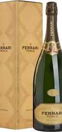 Вино игристое белое брют «Ferrari Perle Brut Trento» 2009 г., в подарочной упаковке