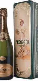 Вино игристое белое брют «Ferrari Perle Brut» 2009 г., в железной подарочной упаковке Люкс