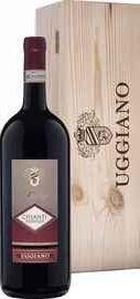Вино красное сухое «Prestige Chianti Azienda Uggiano » 2017 г. в деревянной подарочной упаковке