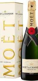 Шампанское белое брют «Imperial Brut Moet & Chandon» в подарочной упаковке